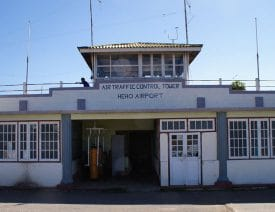 Heho Airport's diminutive control tower.
