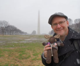 Chillin' with Sven Wondermoose at the Washington Monument.
