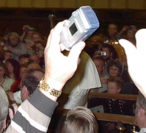 The Pope that got away. I swear that's him behind the camera!