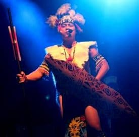 A representative from one of Sarawak's tribes opens the festival with a traditional blessing.