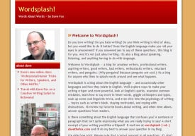 The original Wordsplash homepage from 2007