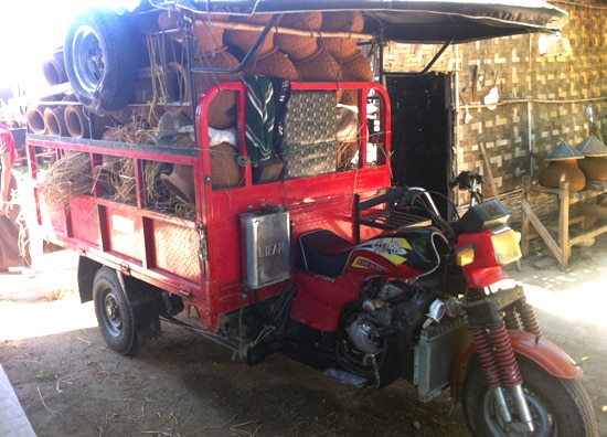Burma-drive1-tuktuk-pots