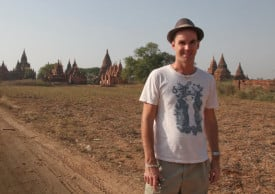 Matt Preston in Bagan, Burma