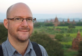 Dave Fox in Myanmar. From Globejotting: A Travel Journaling How-To.