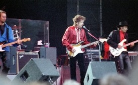 Bob Dylan in Stockholm, 1996. (Photo by Henryk Kotowski / Creative Commons / Wikipedia)