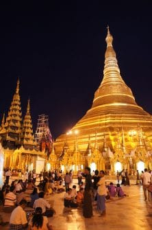 Shwedagon Pagoda in Yangon. Burma, offers sensory overload you can't capture in a photo alone.