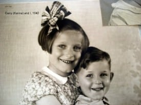 Ernst and his sister, Karina, shortly before the war separated them.