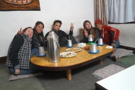 Kattina with new friends in Kathmandu: We have tried contacting them to see if they are okay and are still awaiting a response.