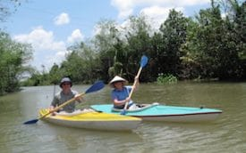 2008: Kayaking in the Mekong Delta. (Photo: Tran Phuc)