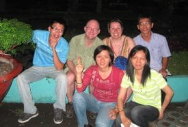 Our first night in Saigon in 2008: An impromptu English lesson sparked lasting friendships.