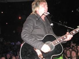 Alarm lead singer Mike Peters in Llandudno, Wales, 2011.