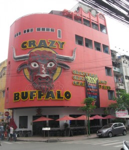 The Crazy Buffalo's sinister neon has burst into flames twice since the bar opened in 2010.