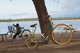 Gili Trawangan, Indonesia: If horse carts aren't your thing, your other transportation option is bicycle rental.