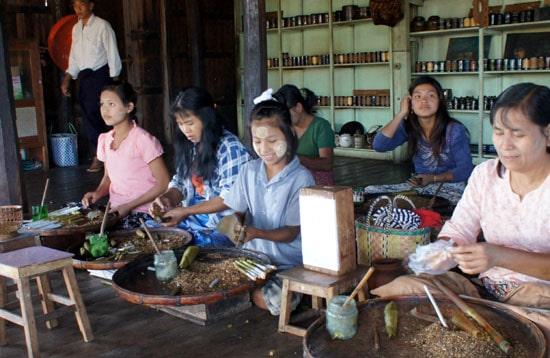 Image result for burmese making cigars