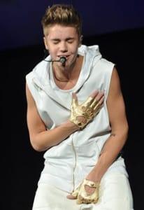 Justin Bieber in concert. (Photo by Joe Bielawa / Creative Commons license via Wikipedia)