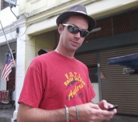 Looking rather shady: Matt Preston in Penang, Malaysia.