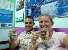 A beer break in Burma.