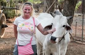 Deb Prestion... having a cow.