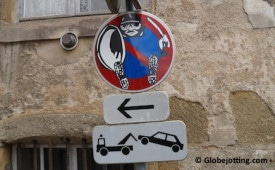 Road signs in foreign countries can be tricky to decipher.