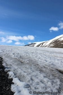 Glaciers fight a war of attrition against the land, scouring the mountains and moving massive boulders and rock flour in slow motion. The result is a lumpy landscape of loose rocks and ice.