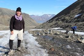 Kattina Rabdau-Fox: Fossil hunting in Svalbard.
