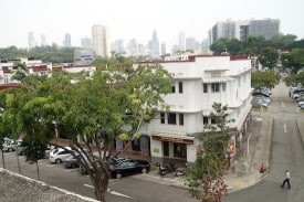 Tiong Bahru is one of the only neighborhoods in Singapore that has not been trampled by skyscrapers.