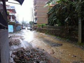 When heavy rains hit Pokhara, the roads turn to rivers.