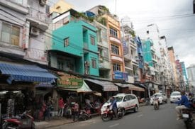 """Bui Vien's archtectural style: """"20th  Century Ramshackle."""""""